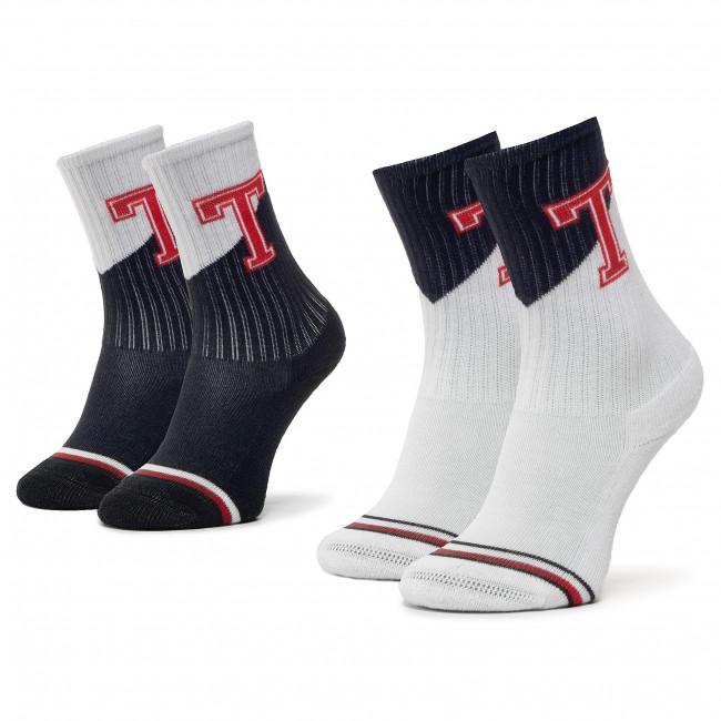 Súprava 2 párov vysokých ponožiek detských TOMMY HILFIGER - 320405001 Tommy Original 085
