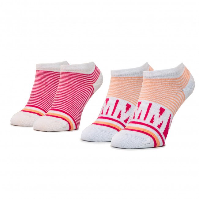 Súprava 2 párov kotníkových ponožiek detských TOMMY HILFIGER - 320407001 Pink Lady 026