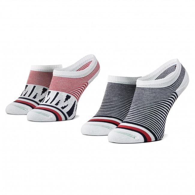Súprava 2 párov kotníkových ponožiek detských TOMMY HILFIGER - 320407001 Tommy Original 085