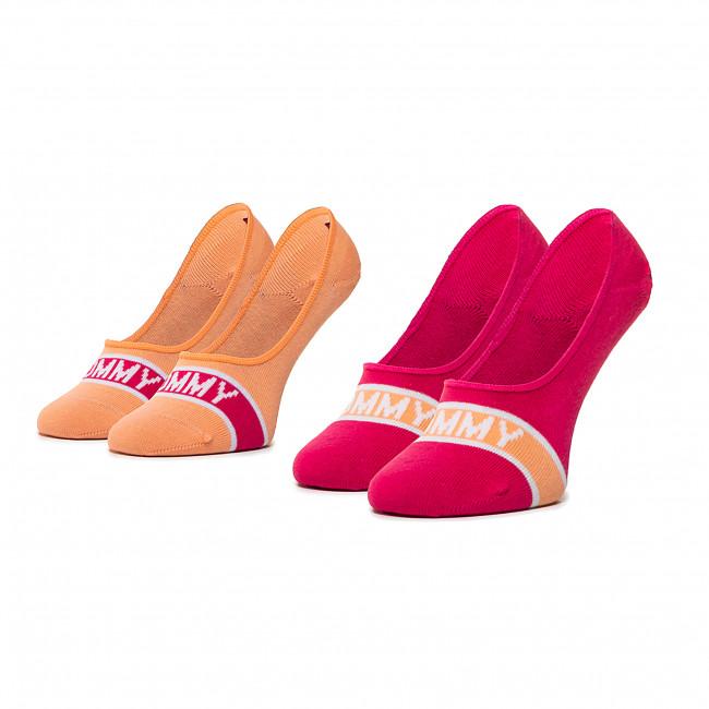 Súprava 2 párov krátkych ponožiek detských TOMMY HILFIGER - 320410001  Pink Lady 026