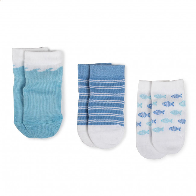 Súprava 3 párov kotníkových ponožiek detských TOMMY HILFIGER - 320508001  Blue Combo 025