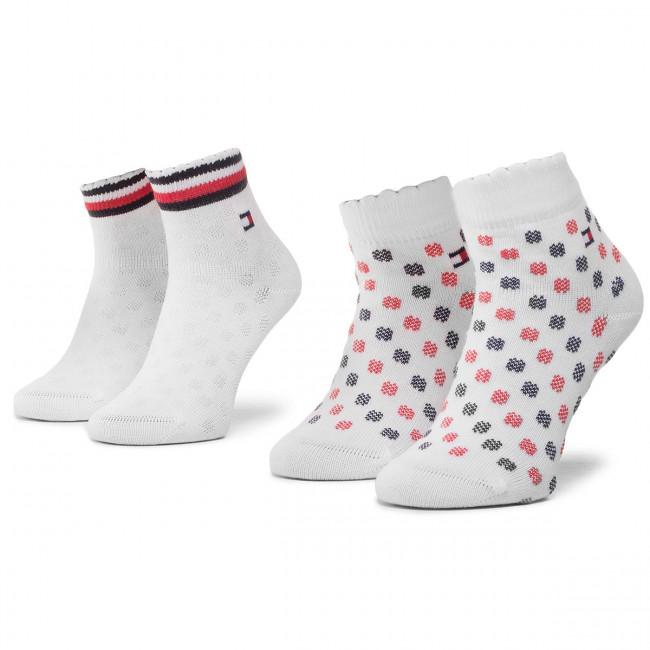 Súprava 2 párov vysokých ponožiek detských TOMMY HILFIGER - 320501001 Tommy Original 023