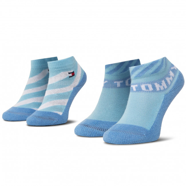 Súprava 2 párov kotníkových ponožiek detských TOMMY HILFIGER - 320503001 025 015 Blue Combo 025
