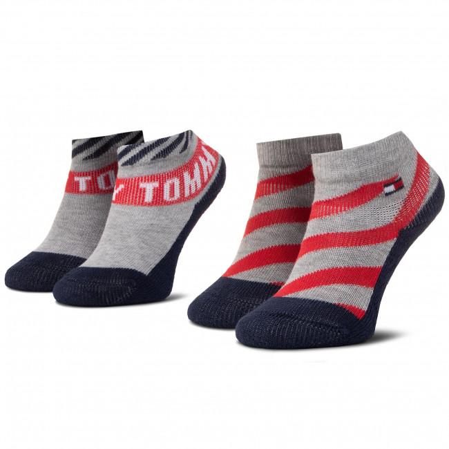 Súprava 2 párov kotníkových ponožiek detských TOMMY HILFIGER - 320503001  Tommy Original 015