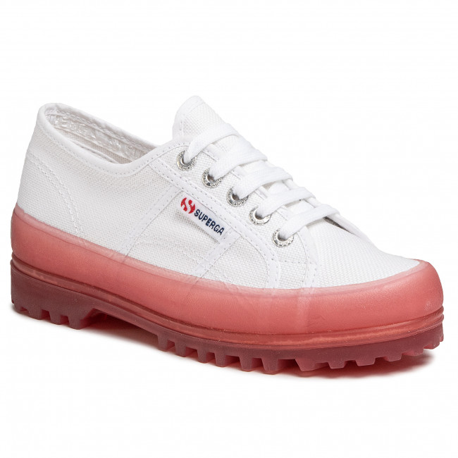 Outdoorová obuv SUPERGA - 2555 Alpina Jellygum Cotu S1115LW White/Pink Extas A0E