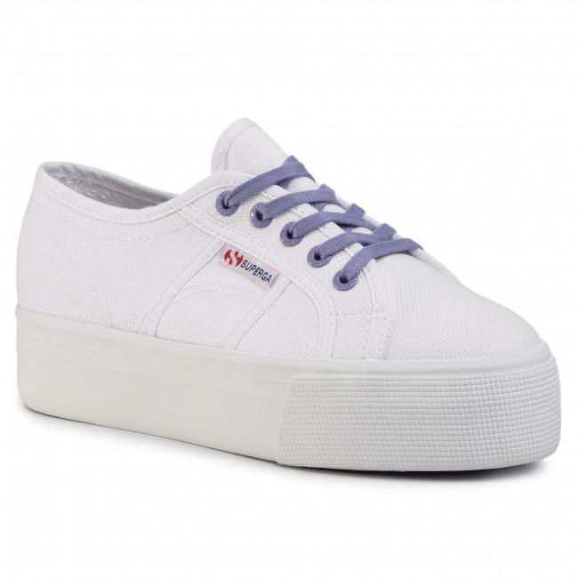 Tenisky SUPERGA - 2790 Cotwcontrast S1114DW White/Violet Persian
