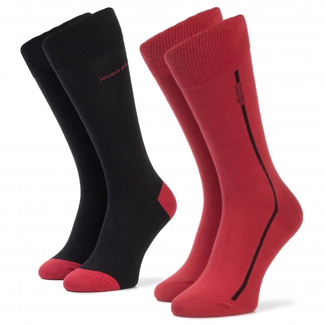 Súprava 2 párov vysokých ponožiek pánskych BOSS - 2P Rs Logo Stripe Cc 50406444 615