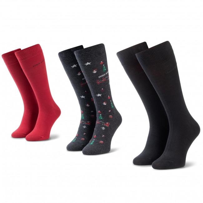 Súprava 3 párov vysokých ponožiek pánskych BOSS - 3p Rs Gift Set Cc 50420243 012