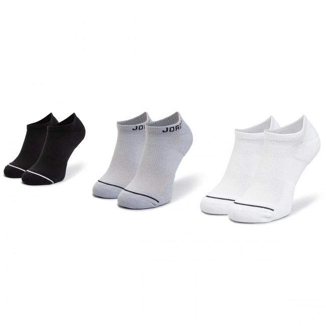 Súprava 3 párov kotníkových ponožiek unisex NIKE - SX5546 018  Biela Čierna Sivá