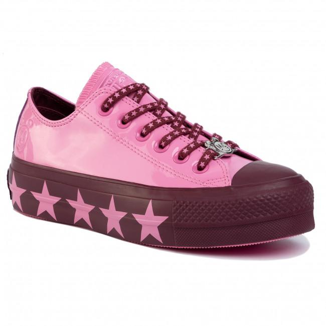 Tramky CONVERSE - Ctas Lift Ox 563718C Pink/Dark Burgundy/Pink