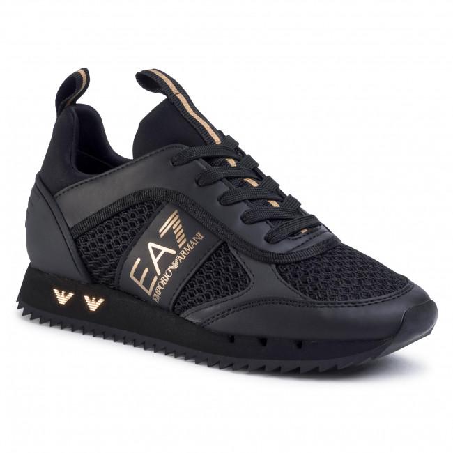 Sneakersy EA7 EMPORIO ARMANI - X8X027 XK050 M701  Triple Black/Gold