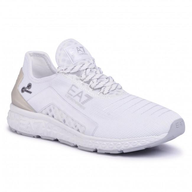 Sneakersy EA7 EMPORIO ARMANI - X8X054 XK044 00175 White/Silver