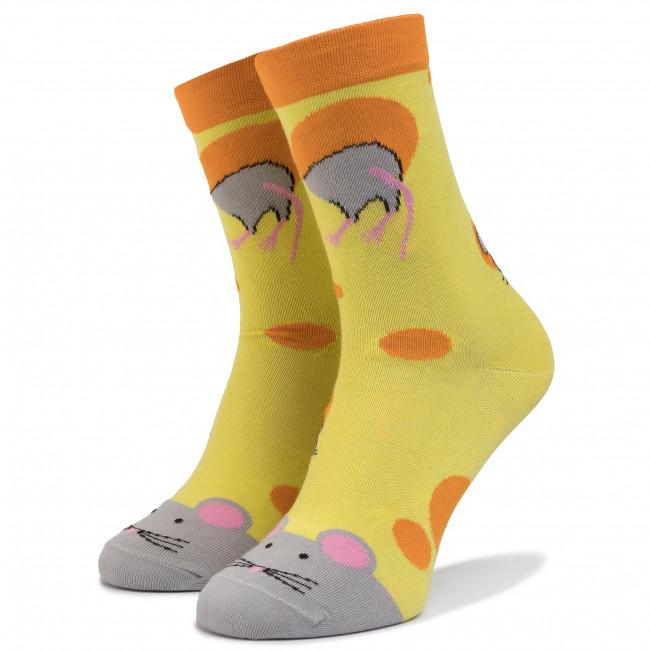 Ponožky Vysoké Unisex CUP OF SOX - SERpetki Žltá