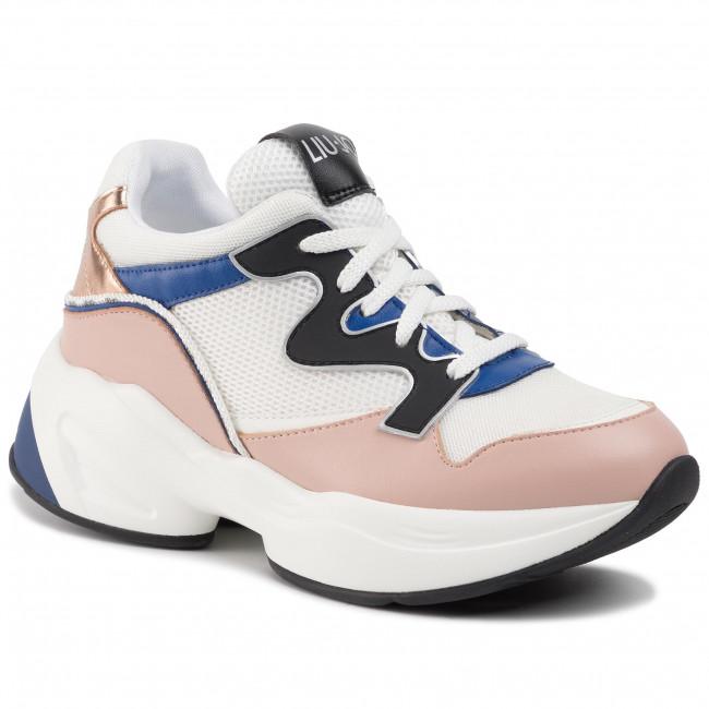 Sneakersy LIU JO - Jog 09 BA0019 TX091 White/Nude S1009