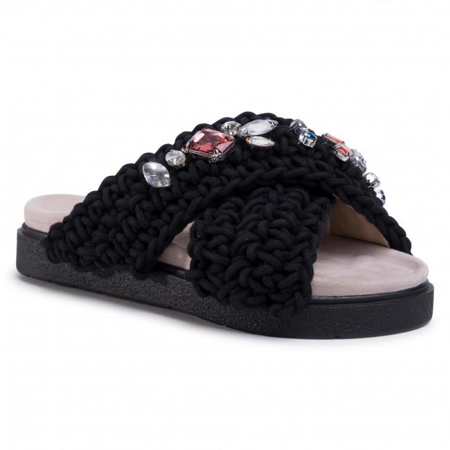 Šľapky INUIKII - Women Woven Stones 70104-006 Black