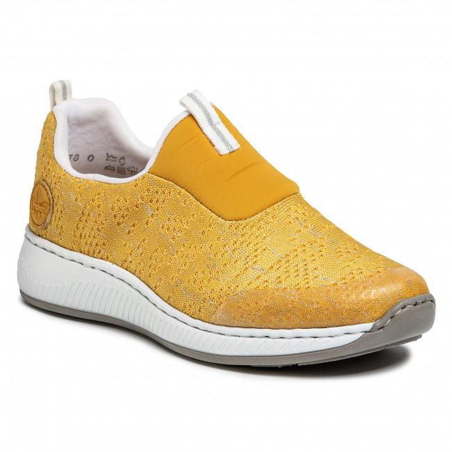 Sneakersy RIEKER - N5595-68 Gelb