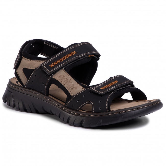 Sandále RIEKER - 26757-01 Schwarz Kombi