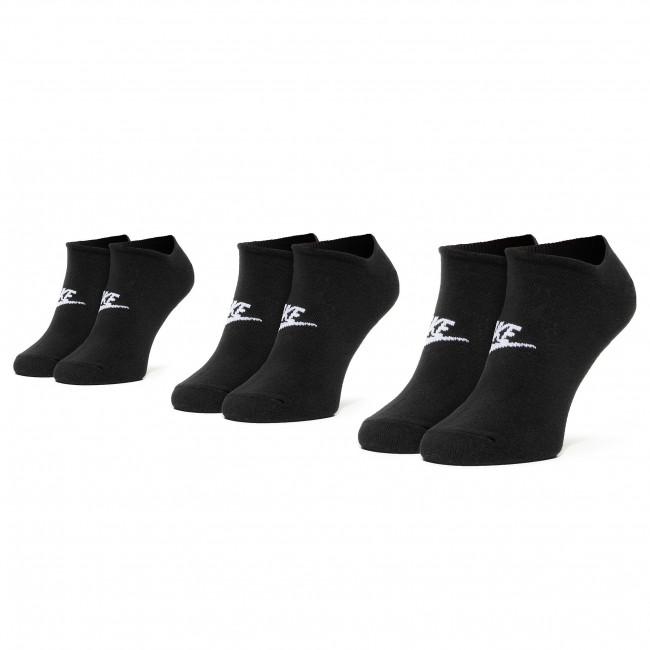 Súprava 3 párov kotníkových ponožiek unisex NIKE - SK0111 010 Čierna