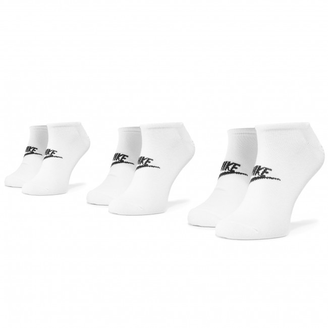 Súprava 3 párov kotníkových ponožiek unisex NIKE - SK0111 100 Biela