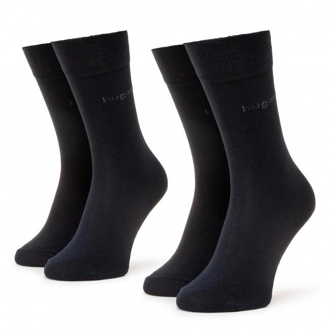 Súprava 2 párov vysokých ponožiek pánskych BUGATTI - 6702  Dark Navy 545