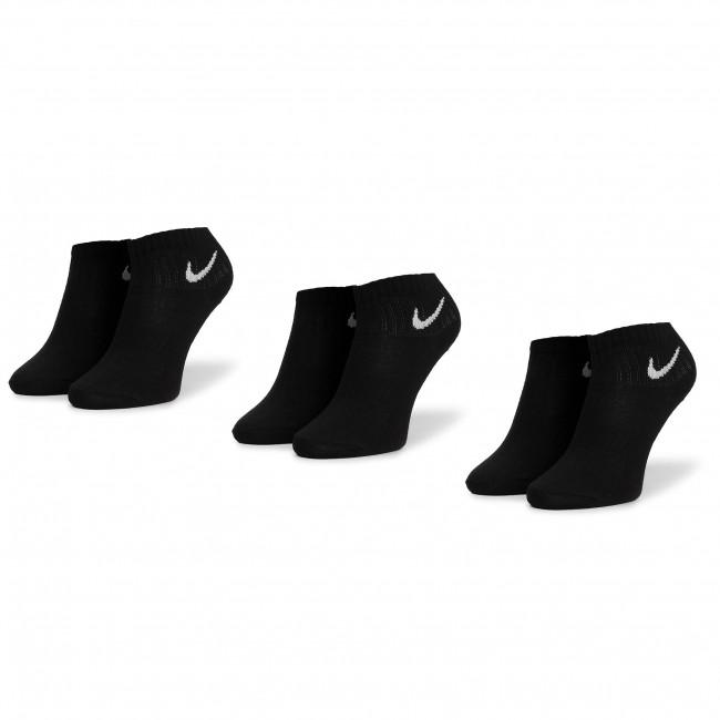 Súprava 3 párov kotníkových ponožiek unisex NIKE - SX7677 010 Čierna
