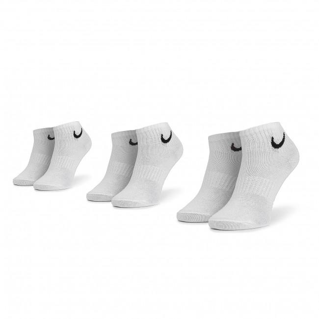 Súprava 3 párov kotníkových ponožiek unisex NIKE - SX7677 100 Biela