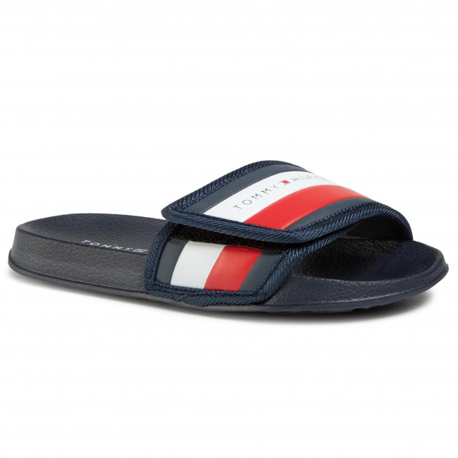 Šľapky TOMMY HILFIGER - Maxi Velcro Pool Slide T3B0-30761-0739 S Blue 800