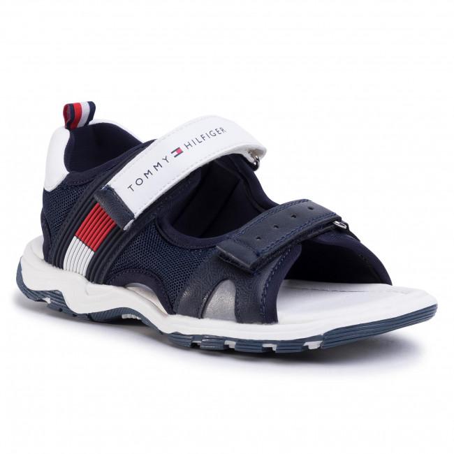 Sandále TOMMY HILFIGER - Velcro Sandal T3B2-30739-0935 M Blue/White X007