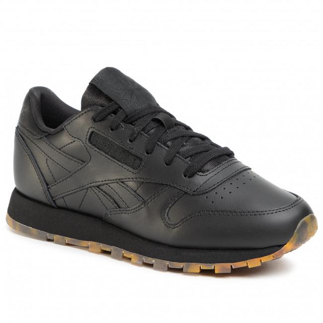 Topánky Reebok - Cl Leather Mu EH2397  Black/Black/Black