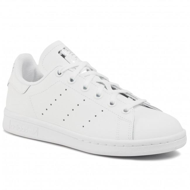 Topánky adidas - Stan Smith J EF4913 Ftwwht/Ftwwht/Silvmt