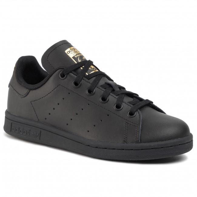 Topánky adidas - Stan Smith J EF4914 Cblack/Cblack/Goldmt