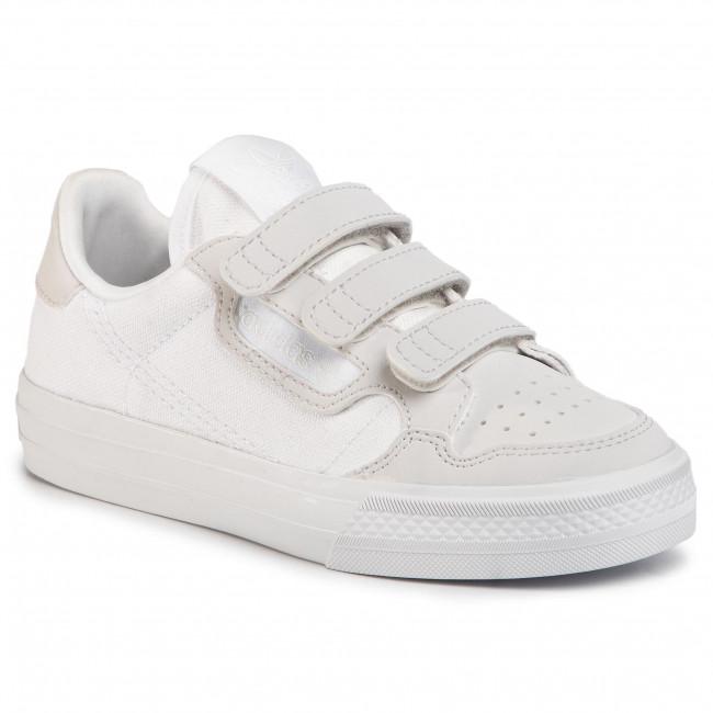 Topánky adidas - Continental Vulc Cf C EG9096 Ftwwht/Ftwwht/Greone