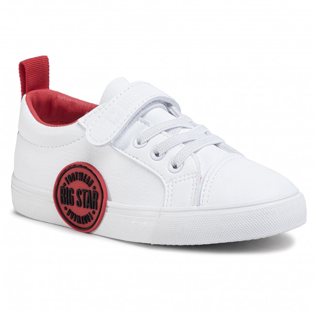 Sneakersy BIG STAR - FF374088 White/Red