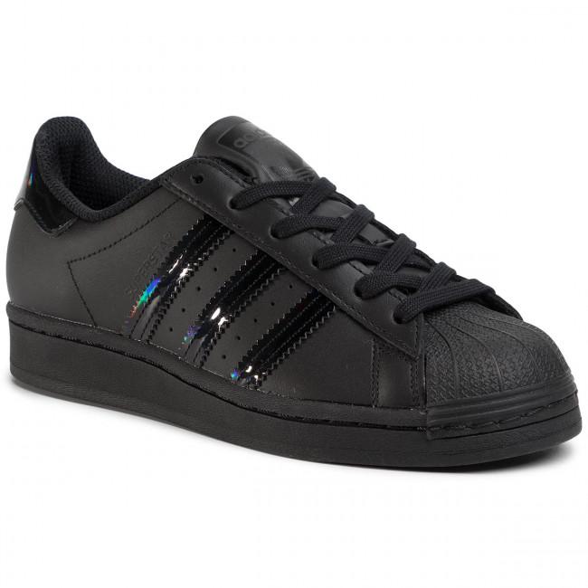Topánky adidas - Superstar J FV3140 Cblack/Cblack/Cblack