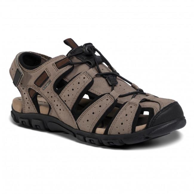 Sandále GEOX - U S.Strada B U6224B 0AU50 C6088 Taupe/Black