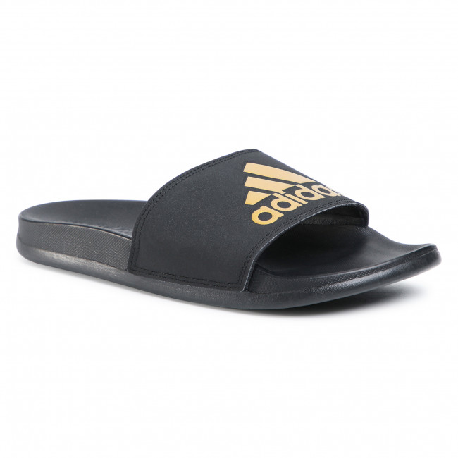 Šľapky adidas - adilette Comfort EG1850 Core Black/Gold Metallic/Core Black