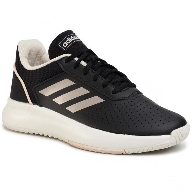 Topánky adidas - Courtsmash EG4204 Cblack/Cblack/Cblack