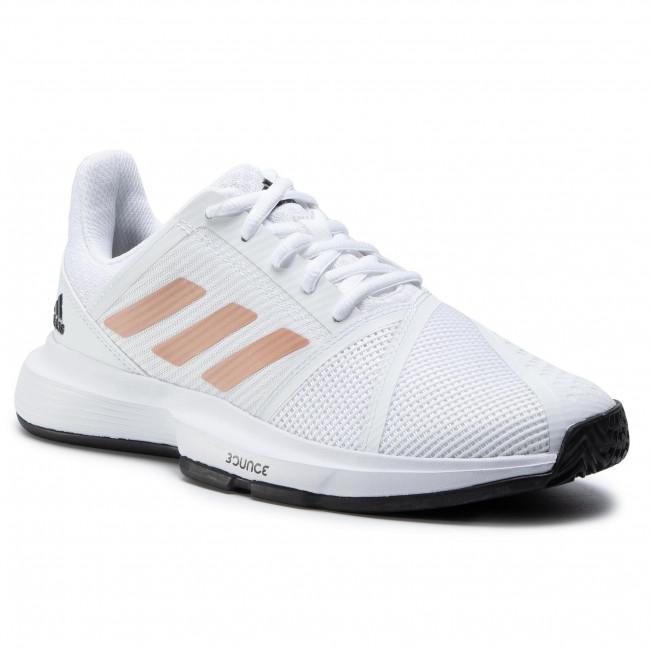 Topánky adidas - CourtJam Bounce W FU8147 Ftwwht/Coppmt/Cblack