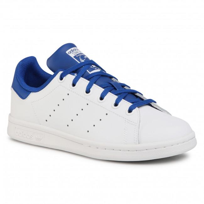 Topánky adidas - Stan Smith J FW4492 Ftwwht/Royblu/Royblu