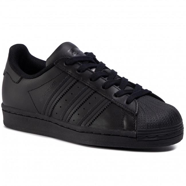 Topánky adidas - Superstar J FU7713 Cblack/Cblack/Cblack