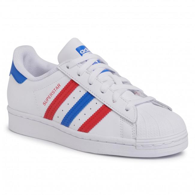 Topánky adidas - Superstar J FW5851 Ftwwht/Blue/Scarle