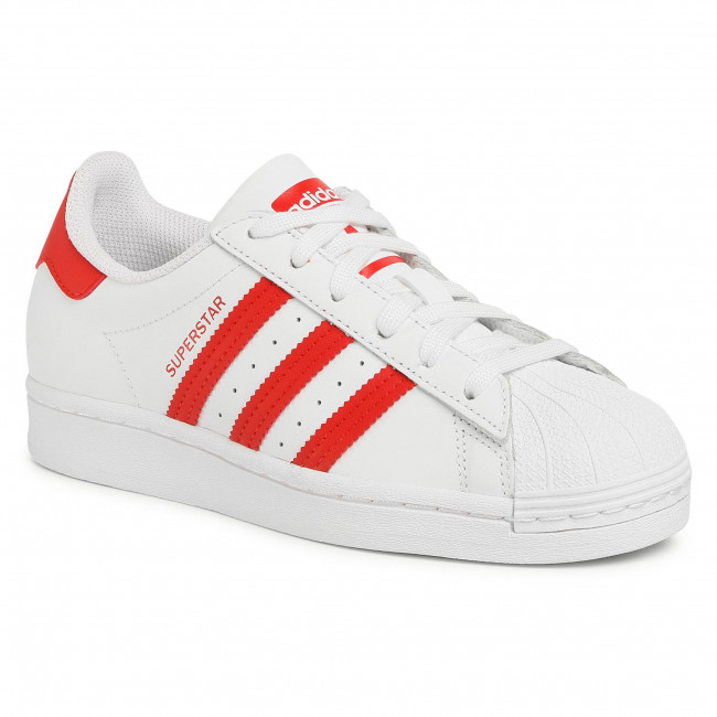 Topánky adidas - Superstar J FW8293 Ftwwht/Scarle/Ftwwht