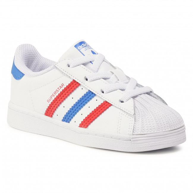 Topánky adidas - Superstar El I FW5849 Ftwwht/Blue/Scarle
