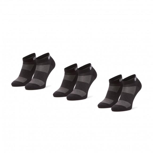 Súprava 3 párov kotníkových ponožiek unisex Reebok - Te Low Cut Sock 3P GH0408  Black