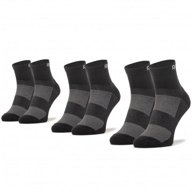 Súprava 3 párov vysokých ponožiek unisex Reebok - Te Ank Sock 3P GH0419 Black