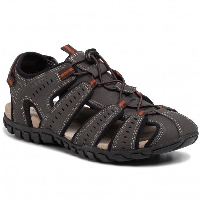 Sandále GEOX - U Sand.Mito C U02Q2C 00050 C6T9B Dk Coffee/Black