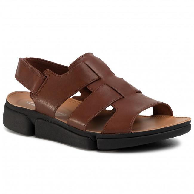 Sandále CLARKS - Tri Cove Sky 261501257 British Tan Leather
