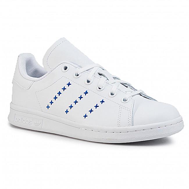 Topánky adidas - Stan Smith J EG6496  Ftwwht/Ftwwht/Royblu