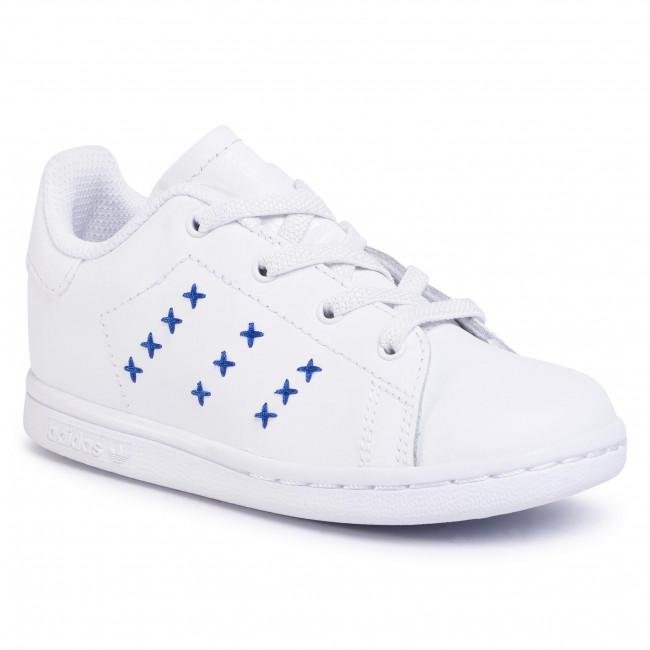 Topánky adidas - Stan Smith El I EG6499 Ftwwht/Ftwwht/Royblu