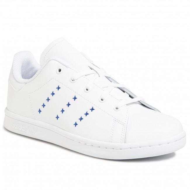 Topánky adidas - Stan Smith C EG6501  Ftwwht/Ftwwht/Royblu